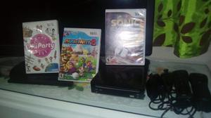 Nintendo Wii Negro Usado+2 Nunchuk+2 Controles+3 Juegos