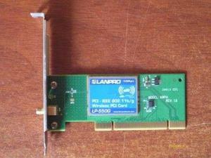 Tarjeta Pci Inalambrica Wifi Lanpro 54mbps Lp-550g.