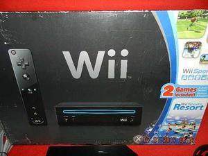 Vendo Nintendo Wii + 2 Juegos En Color Negro