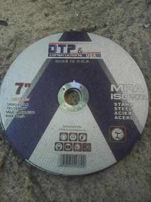 Disco De Corte Marca Dtp 7 Pulgadas Extra Fino