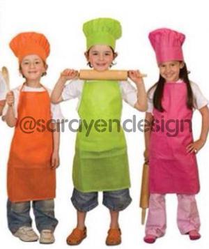 Gorros Y Delantales Para Chef Niños Mini Chef Fabricantes