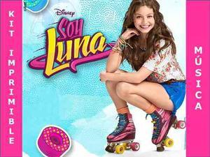 Kit Imprimible Soy Luna Candy Bar + Música Soy Luna