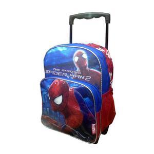 Morral Con Ruedas Spiderman Grande - Niño