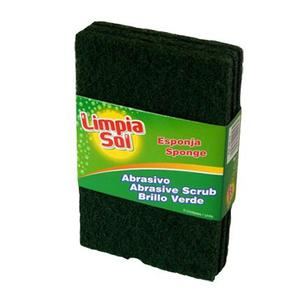 Pack De 3 Unidades Esponja Abrasiva Limpia Sol