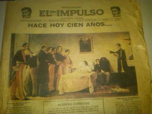 Periodico De  Del Centenario De La Muerte De Bolivar