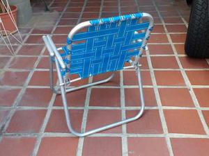 Silla Plegable De Aluminio Y Nylon.