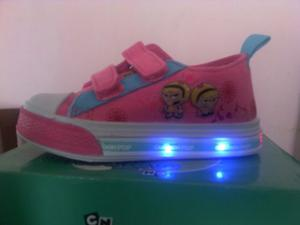 Zapatos Con Luces Niña Cartoon Network Talla 22 Al 25
