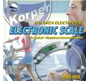 Balanza Electrónica O Peso Dígital Personal De Vidrio