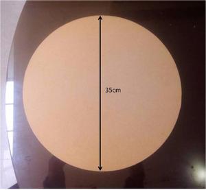Base Giratoria Para Tortas Mdf Crudo 9mm. Diámetro 35cm
