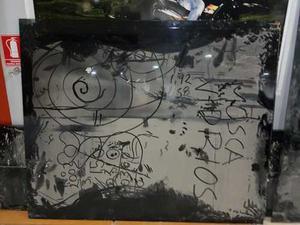 Lamina Vidrio Negro 8mm 1.92 X 1.58 Usada En Perfecto Estado