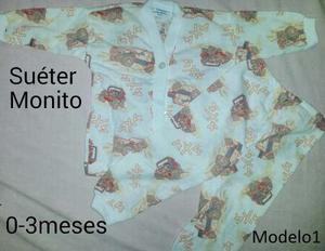 Pijama Bebé 2 Piezas (sweter + Monito) Ultimos Disp.