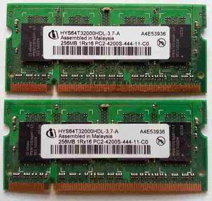 Memoria Para Laptop Ddr1 De 256 Mb Ibm 533mhz