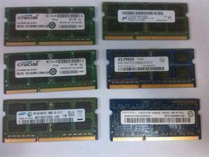 Memorias Ram Para Laptop Ddr3 4 Gb Usada