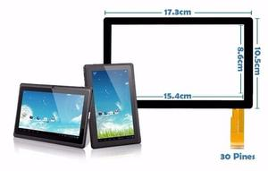 Mica Tactil Tablet 7 China A13, A23, Q88, Irulu, Prontotec