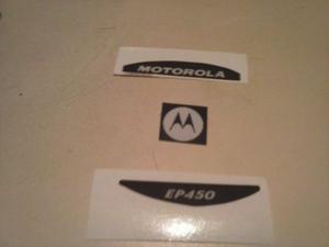 Radios Motorola Ep450 Etiquetas Adhesivas Frontales