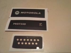 Radios Motorola Pro Etiquetas Frontales Y Micro