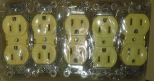 Toma Corriente Doble Caja De 10 Unidades Nuevos