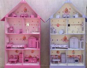 Lindas Casas Para Muñecas En Mdf!!!