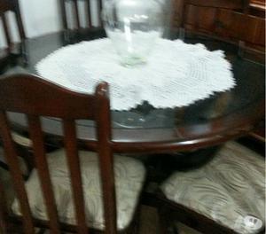 Mesa comedor de madera y vidrio de 6 sillas posot class for Precio juego de comedor con 6 sillas