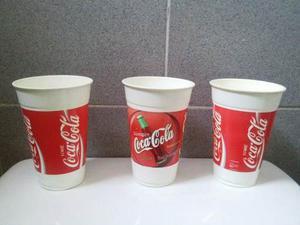 De Coleccion!!! Vasos Plasticos De La Coca Cola Vintage