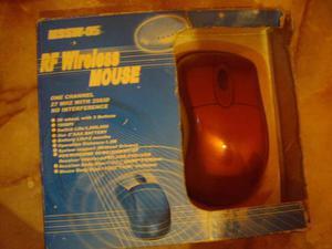 Mouse Inalambrico Plateado Alcance Largo Con Baterias