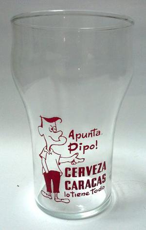 Muy Coleccionable Vaso Vidrio Barrigón Apunta...pipo