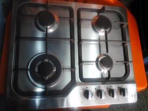Tope De Cocina 60 Cm Gas Acero Inoxidable Hierro Fundido