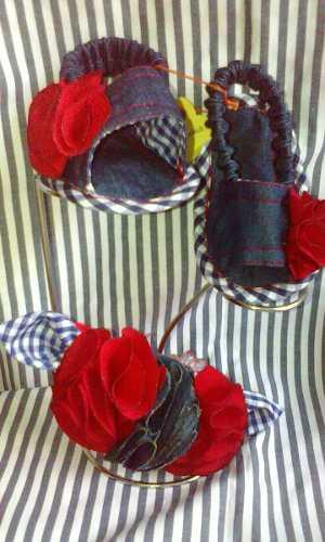 Zapatillas Y Sandalias De Tela Para Bebes Con Cintillos