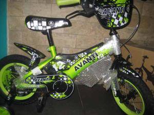 Bicicleta Rin 12 Y 16 Exclusiva Alta Calidad Verde Y Azul