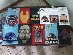 Franelas De Super Heroes Para Niños Al Mayor