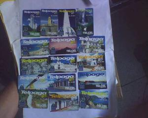 Serie De Tarjetas Telefonicas De Telcel De Aniversario Usad