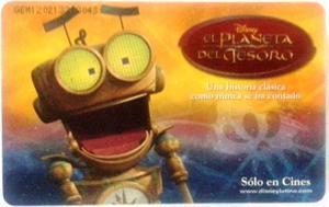 Tarjeta Cantv  Disney El Planeta Del Tesoro (3 De 4)