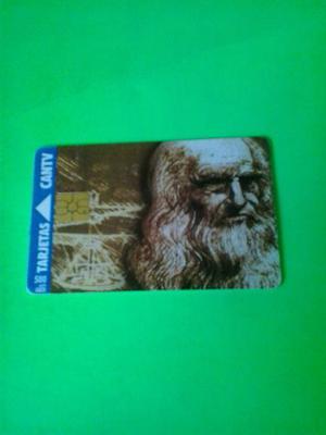 Tarjeta Cantv Serie Genios, Leonardo Da Vinci.