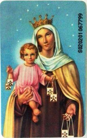 Tarjeta Cantv Usada  Oración A La Virgen Del Carmen
