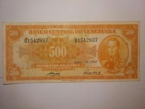 Vendo Billete de 500 Año