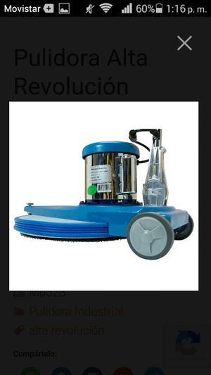 Pulidora de alta revolución y fácil empleo