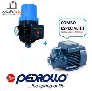 Bomba Agua 1/2 Hp Pedrollo Con Sensor Press Control Usa