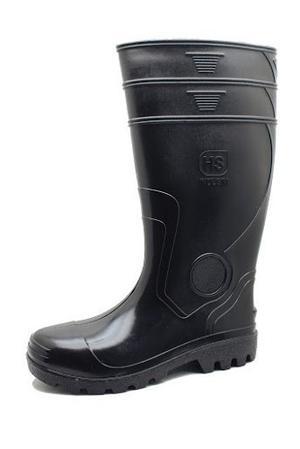Botas De Goma Pvc Caña Larga Negra Con Puntera,talla 46 Y