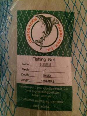 Oferta 100mts Red Mallas Para Pesca Plastica 4 Hilo 0.35