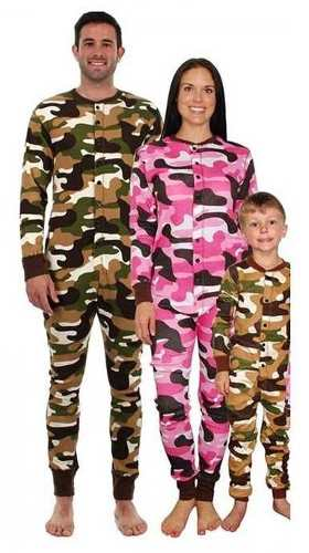Pijamas Enterizos Camuflados Fleece Polar