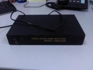 Splitter Rca De 8 Puertos Audio Vídeo Amplificador