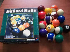 Bolas De Pool Sportcraft Billiard Balls Juego De Bolas Nuevo