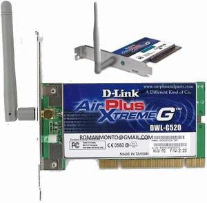 Tarjeta De Red Wifi D Link G520 Pci