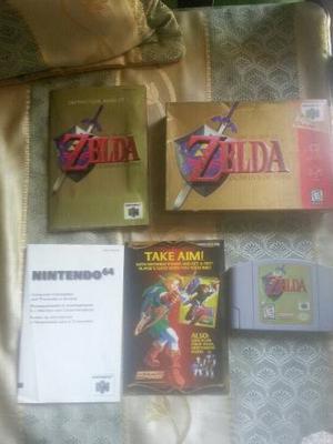 Zelda 64 Ocarina Del Tiempo Con Caja Y Manual