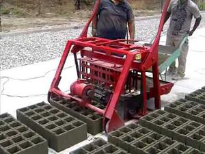 Maquina para fabricar bloques de cemento