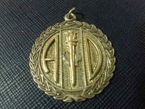 Medalla O Dije En Plata De Acción Democratica Para Llavero
