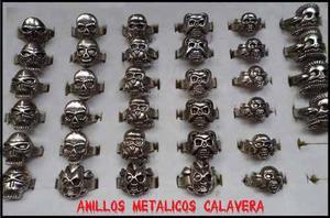 Anillos Metálicos Calavera - Motoristas - Heavy Metal -