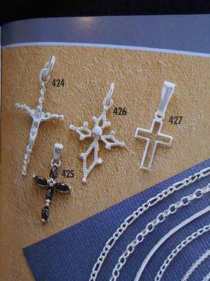 Dije Cruz En Plata 925, Ref. 427, Joyeria Mimi