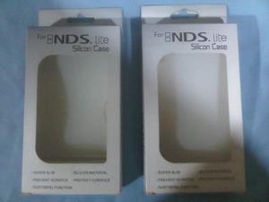 Forro Protector De Goma Blanco Para La Nitendo Ds Lite Nuevo