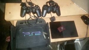 Playstation 2 Como Nuevo Con 2 Controles Y Bolso
